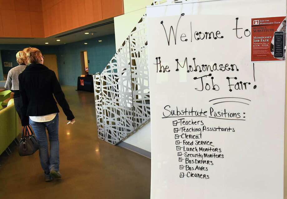 Mohonasen Central School District responds to a state-wide substitute shortage by hosting a Substitute Job Fair at the Center for Advanced Technology on Wednesday, Nov. 15, 2017 in Schenectady, N.Y. (Lori Van Buren / Times Union) Photo: Lori Van Buren / 20042152A