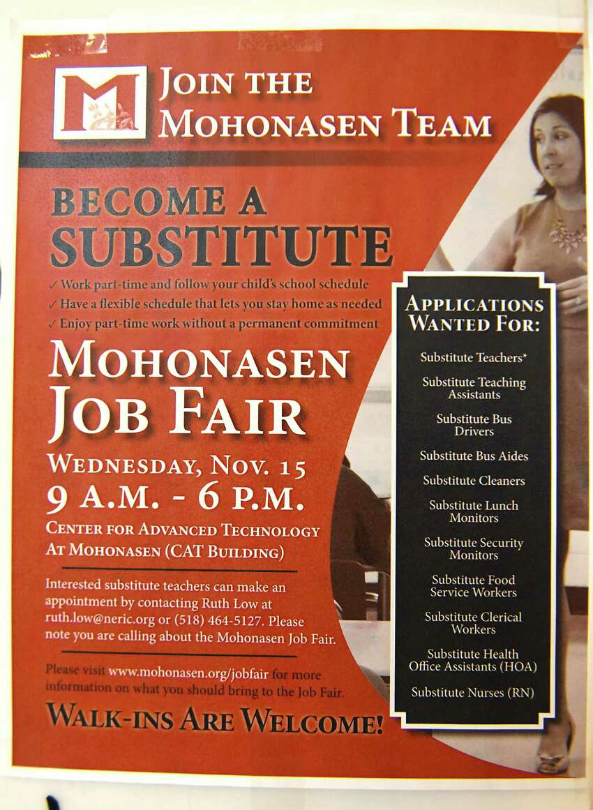 Mohonasen Central School District responds to a state-wide substitute shortage by hosting a Substitute Job Fair at the Center for Advanced Technology on Wednesday, Nov. 15, 2017 in Schenectady, N.Y. (Lori Van Buren / Times Union)