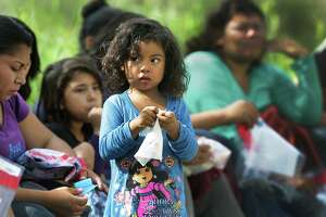 Central American families and children, like this little girl detained last November after crossing the Rio Grande near Rincon Village, make up the fastest-growing demographic of migrants here illegally, one-quarter of all apprehensions at the southern border this year.