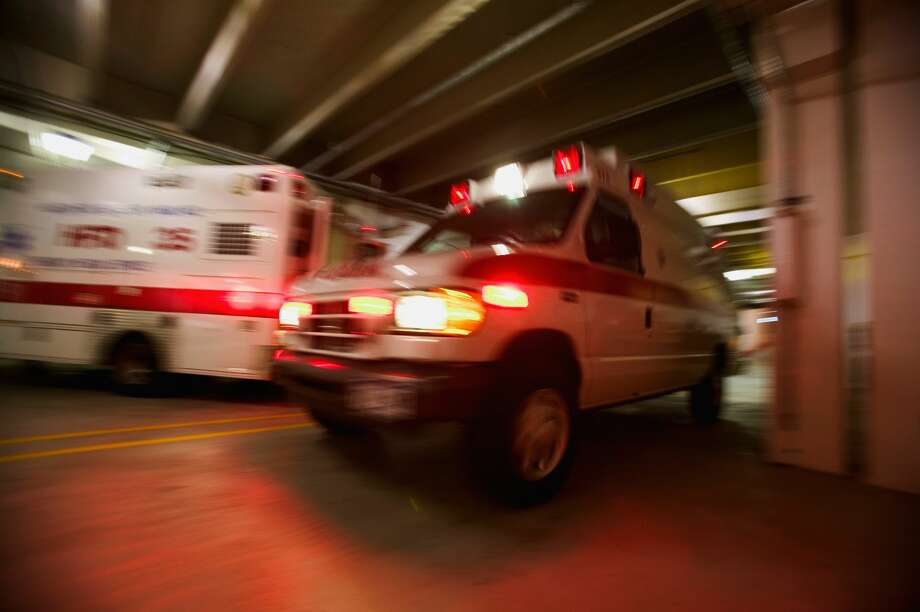 Three people were treated at Marin General Hospital following the collision on Sir Francis Drake Boulevard and Broadmoor Avenue, which occurred at 9:47, police said. Traffic in the area was tied up for hours. Photo: PNC/Getty Images
