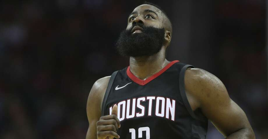 Houston Rockets guard James Harden (13) during the fourth quarter of a NBA game against the New York Knicks at Toyota Center on Saturday, Nov. 25, 2017, in Houston. The Houston Rockets defeated the New York Knicks 117-102. ( Yi-Chin Lee / Houston Chronicle ) Photo: Yi-Chin Lee/Houston Chronicle