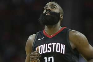 Houston Rockets guard James Harden (13) during the fourth quarter of a NBA game against the New York Knicks at Toyota Center on Saturday, Nov. 25, 2017, in Houston. The Houston Rockets defeated the New York Knicks 117-102. ( Yi-Chin Lee / Houston Chronicle )