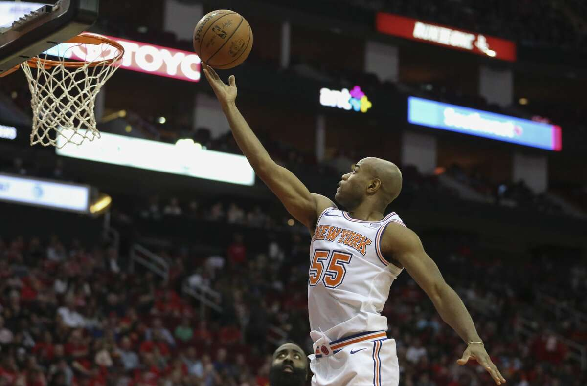 New York Knicks guard Jarrett Jack (55) during the fourth quarter of a NBA game against the Houston Rockets at Toyota Center on Saturday, Nov. 25, 2017, in Houston. The Houston Rockets defeated the New York Knicks 117-102. ( Yi-Chin Lee / Houston Chronicle )