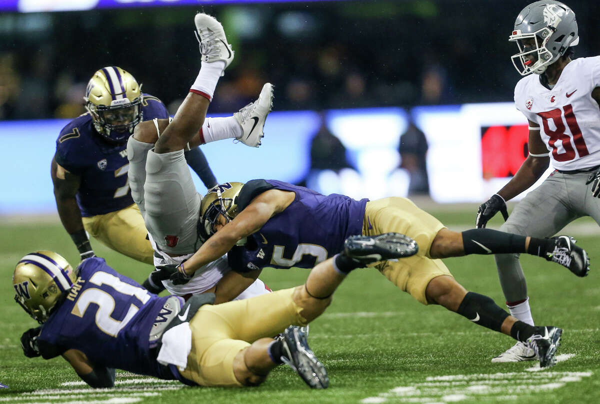 Why they'll win: a favorable schedule While a soft schedule won't help with a CFP run, it certainly boosts the Dawgs' chances of a Pac-12 title. Of their five road games, Stanford is the only one that looks like a dangerous matchup. Otherwise, they've only got Arizona, BYU, Oregon State and Colorado. UW also gets to host Oregon, Utah and Washington State this year, ensuring that they'll play what look like the toughest games on the schedule in front of a hometown crowd.