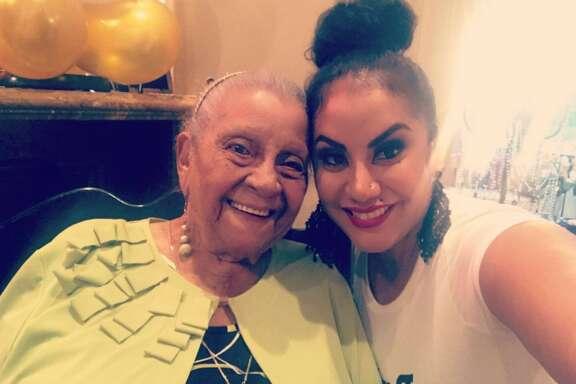 Benigna Alers and granddaughter Iraida Brown share a happy moment.