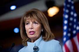 Rep. Jackie Speier D-Calif.) during a news conference on sexual harassment training on Capitol Hill in Washington, Nov. 15, 2017. (Eric Thayer/The New York Times)