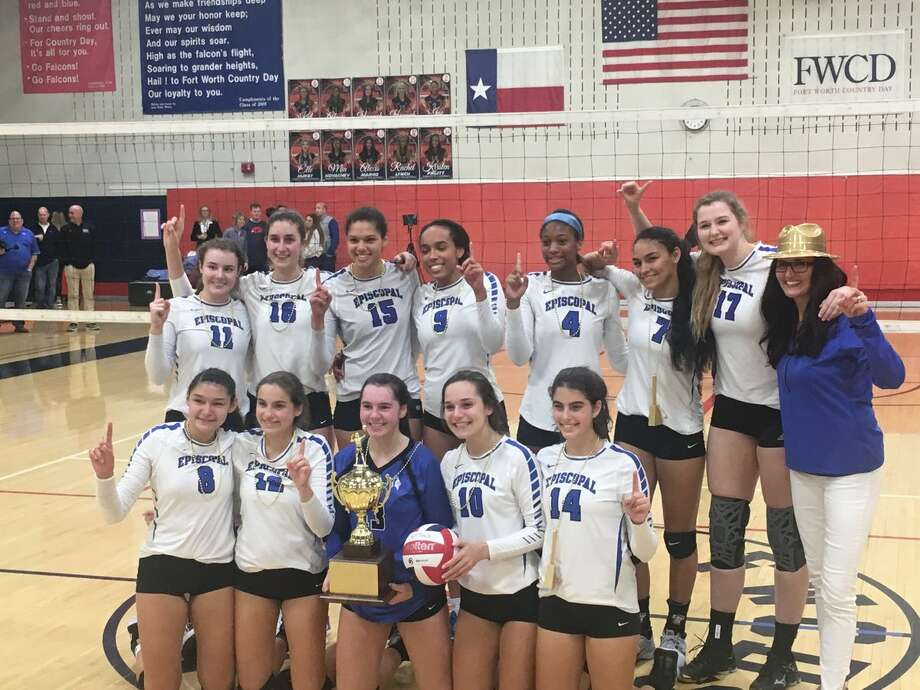 The Episcopal volleyball team defeated Houston Christian in the final for its first SPC championship since 1998. The Knights are Sania Petties, Kansas Watts, Trinity Watts, Kathleen Johnson, Jamilee Rassy, Lauren Bordelon, Sophia Quintanilla, Alison Krieg, Camille Hanna, Mylana Byrd, Brennan Howell and Katherine Sickler. The team is coached by Amanda Watts, Stephanie Gloor and Tiffani Bailey.