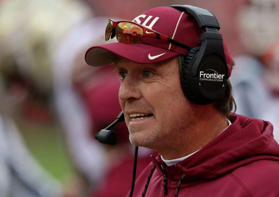 TOP CANDIDATES FOR TEXAS A&M HEAD COACHING JOB JIMBO FISHER, Florida State He's won at least 10 games in six of his eight seasons as head coach in Tallahassee, Fla. By comparison Sumlin had one double-digit victory season in six tries at A&M. Fisher, who won a national title with FSU in 2013, is quite familiar with the SEC having served as an assistant at Auburn and LSU. He crossed paths with A&M athletic director Scott Woodward while at LSU in the early to mid-2000s. Photo: Streeter Lecka, Getty Images / 2017 Getty Images