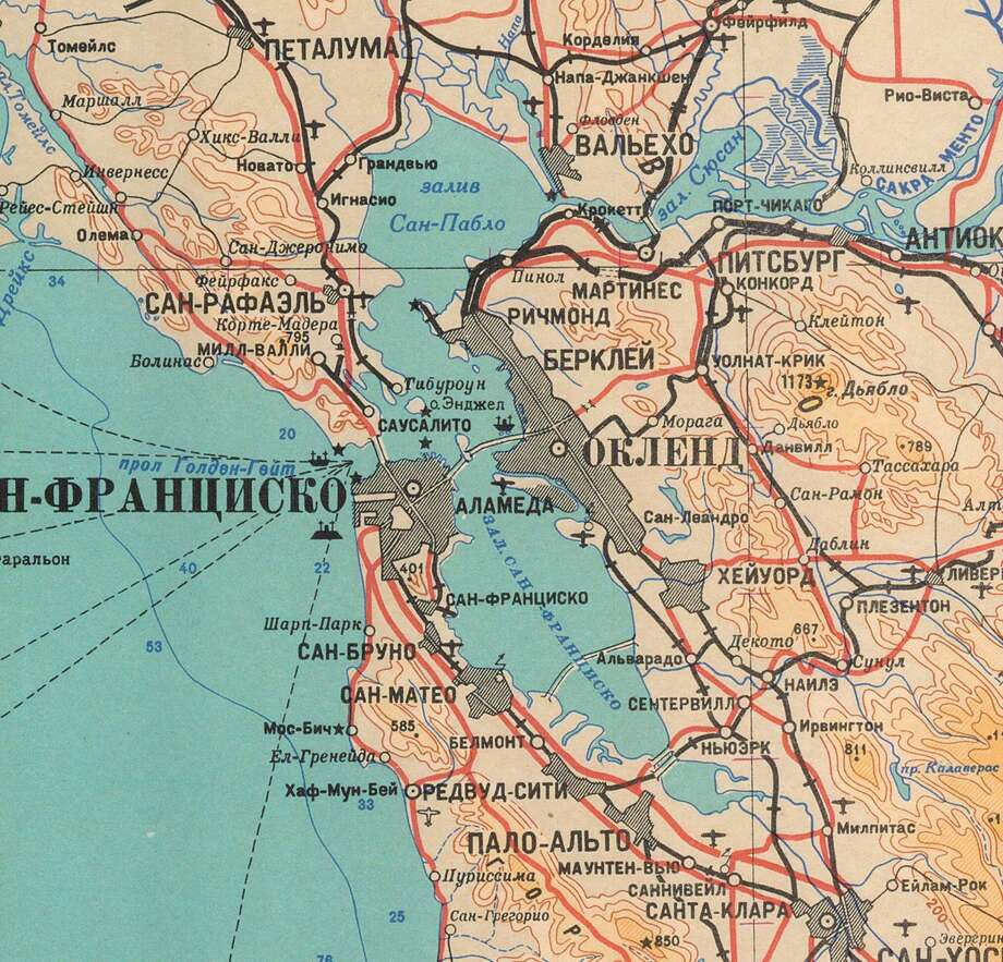 These \'chilling\' Soviet maps of San Francisco, Bay Area likely ...