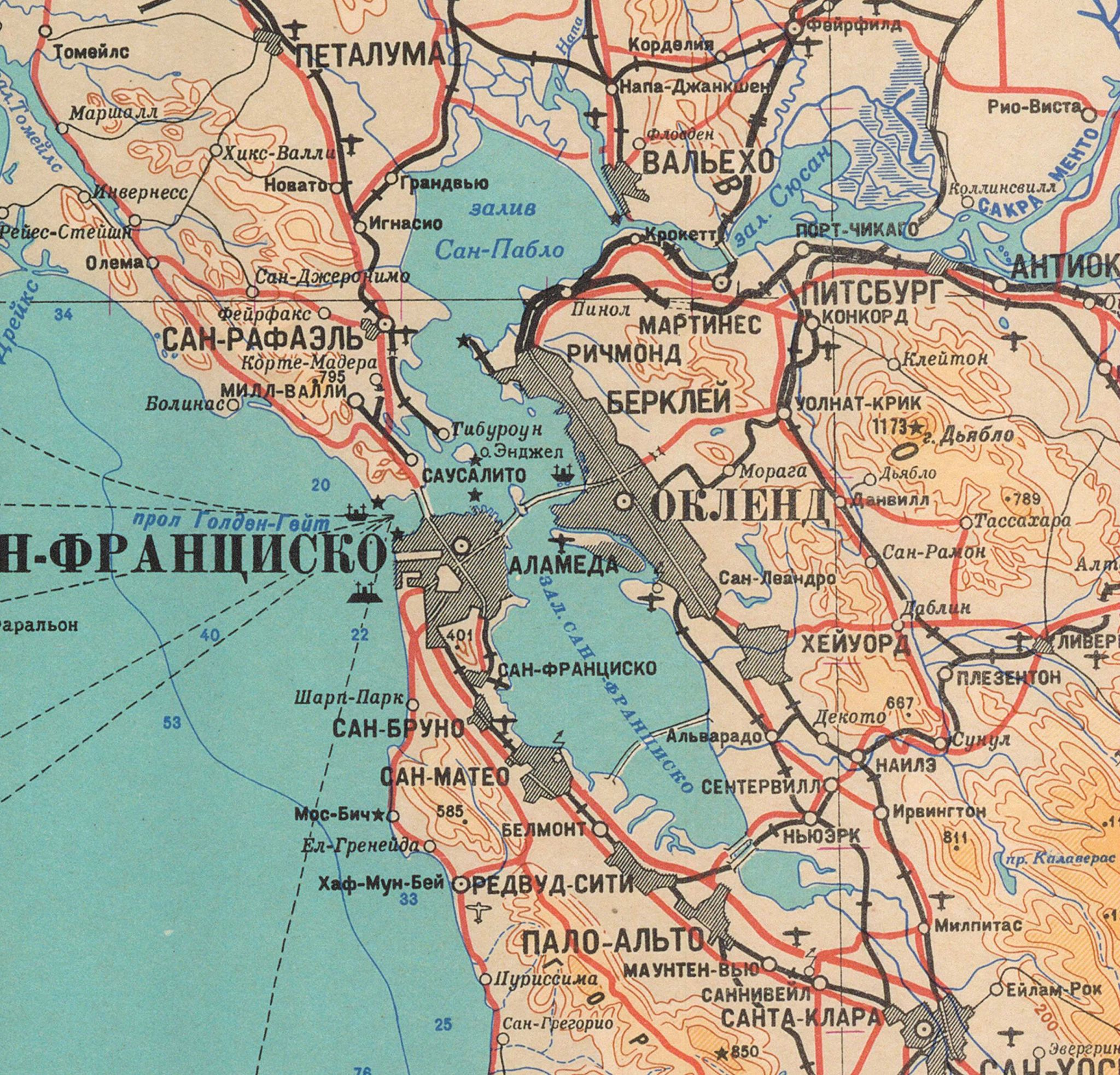 Sf Classified: These 'chilling' Soviet Maps Of San Francisco, Bay Area