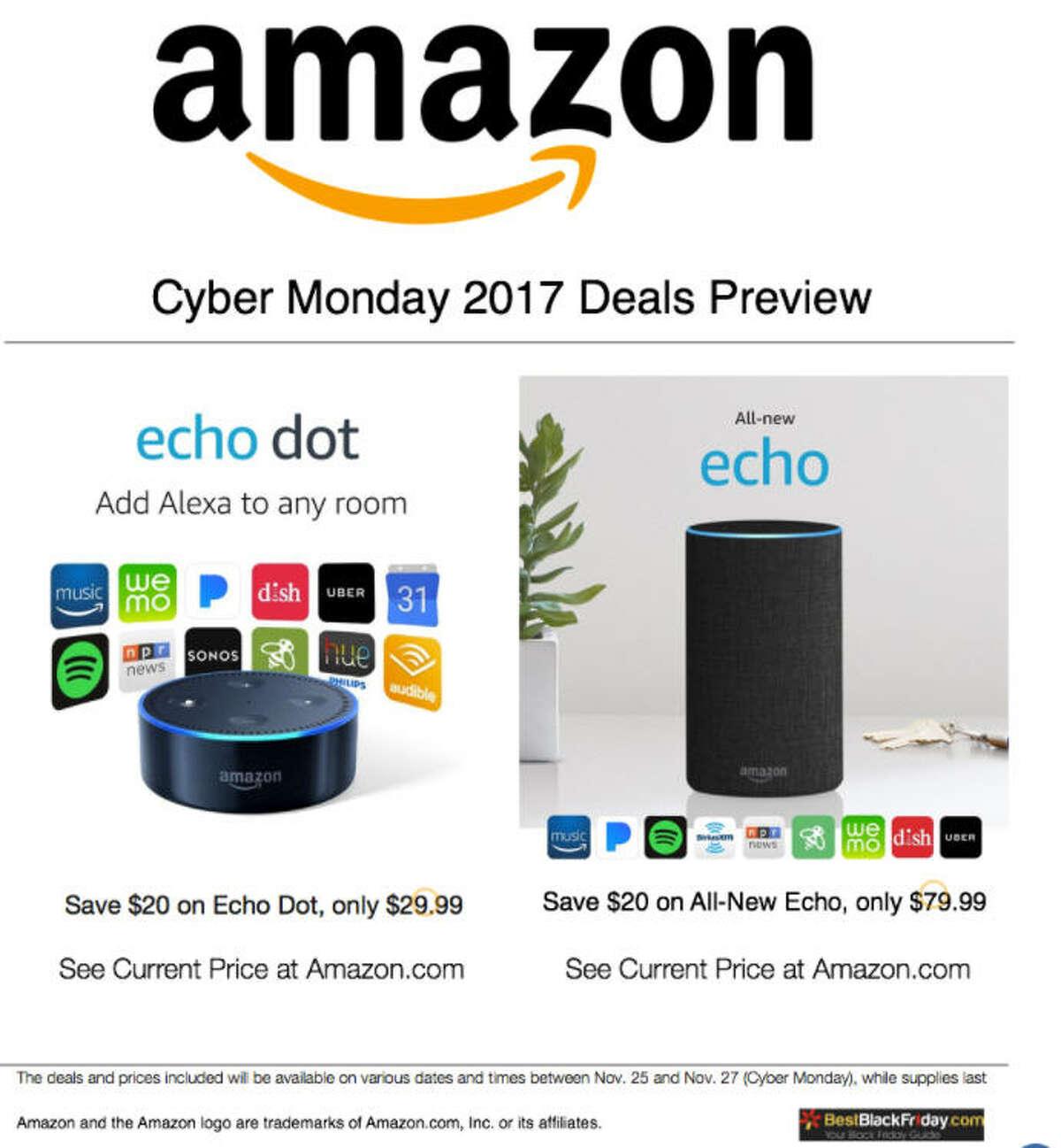 Amazon Amazon Echo Dot for $29.99 (save $20)