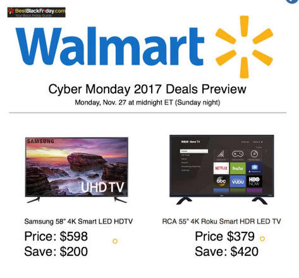 Walmart tv deals cyber monday