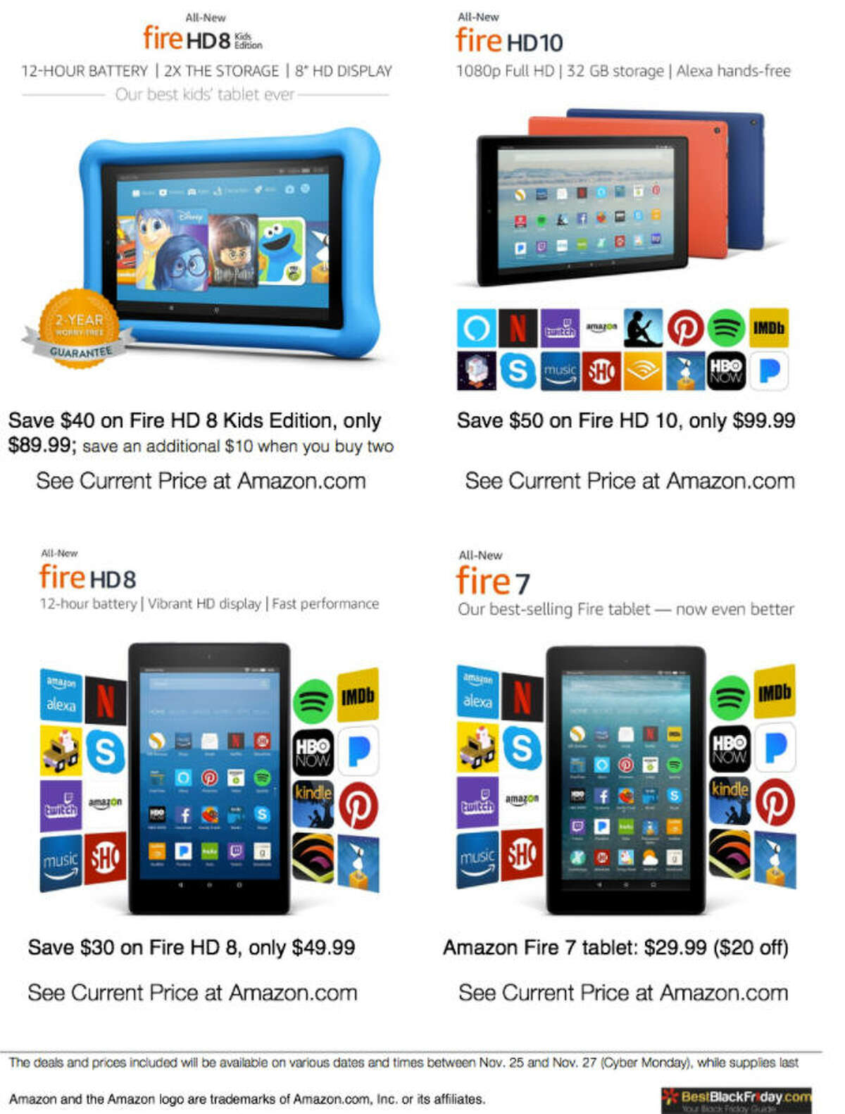 Amazon All-New Fire HD 10 for only $99.99 (save $50)