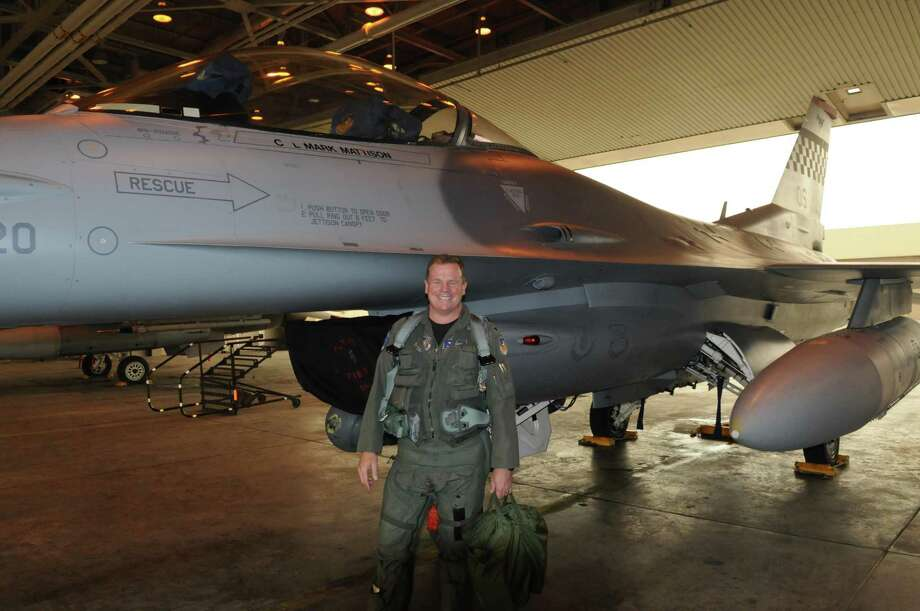 Mark Mattison of San Antonio flew F-16 fighter jets before retiring from the military. He now works at a grocery store and counsels service members to keep an open mind on what they want to do after leaving the military. Photo: Photo Courtesy Of Mark Mattison