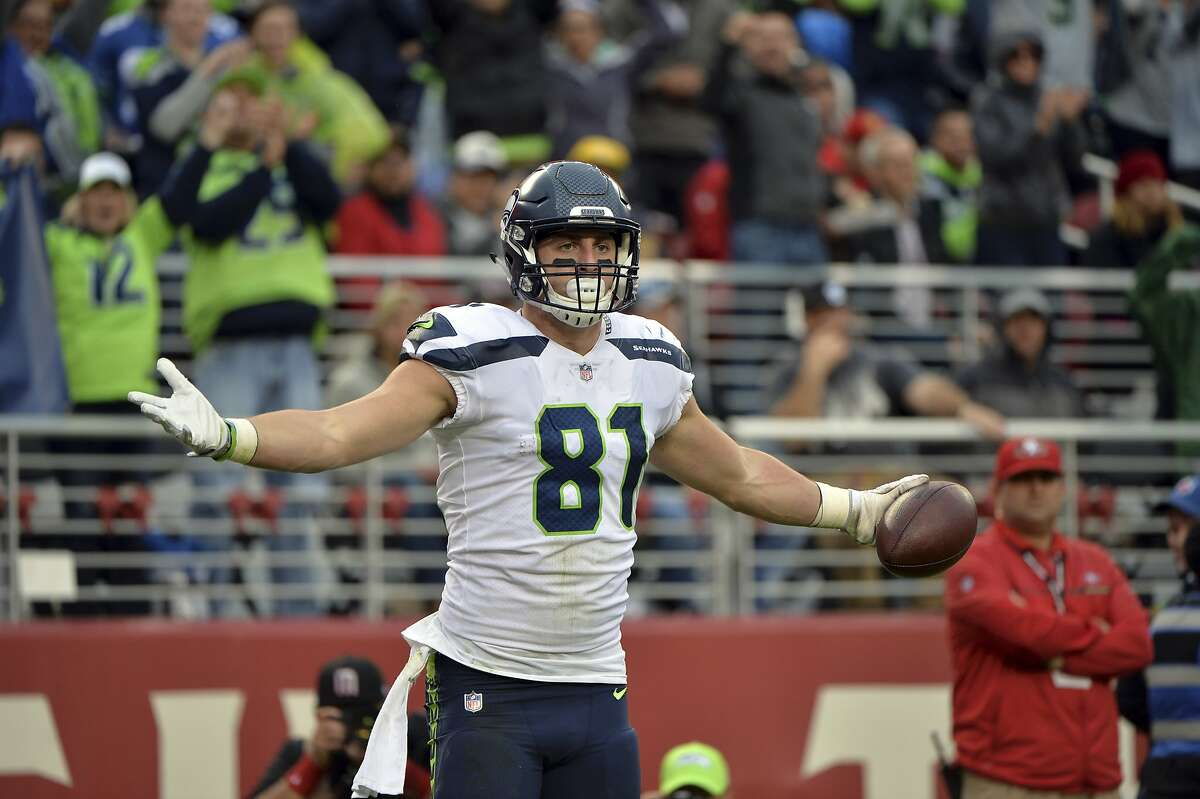 TIGHT ENDS (3)  KEEP: Nick Vannett, Will Dissly, Tyrone Swoopes  CUT: Ed Dickson, Clayton Wilson, Kyle Carter  ARGUMENT: Dickson, a former Carolina Panther, was the expected starter here after the Seahawks picked him up in the offseason (a three-year deal) with the departures of both Jimmy Graham and Luke Willson. But he's yet to practice and didn't play all preseason with an injury. His case became more mysterious when Carroll said Wednesday that he sustained a setback. He's been on the Non-Football Injury list.  Vannett and Dissly were already locks to make the roster. With Dickson being out, Vannett is the starter.  Swoopes, a former quarterback at Texas, makes my cut as a third tight end.