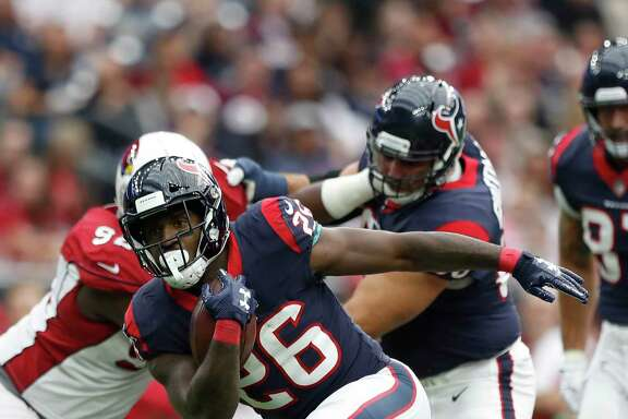 Running back Lamar Miller (26) will have to carry the bulk of the rushing load for the Texans in the aftermath of D'Onta Foreman's season-ending injury.