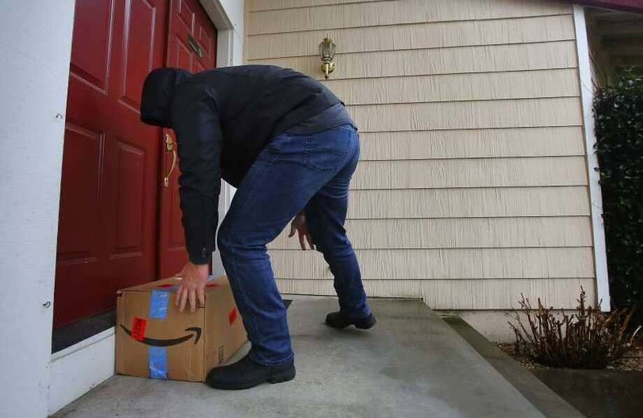 A study commissioned by InsuranceQuotes.com, found that 23 million Americans have had packages stolen from their homes before they could open them. Photo: Norwalk Police Department