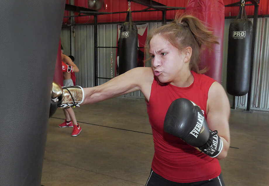 Jennifer Lozano will fight in early December in the Elite and Youth National Championship in Salt Lake City, getting her one step closer to qualifying for the 2020 Olympics. Photo: Cuate Santos/Laredo Morning Times