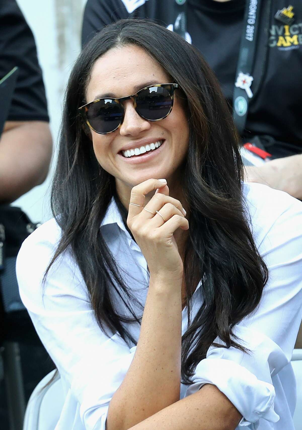 Meghan Markle attends a Wheelchair Tennis match during the Invictus Games 2017 at Nathan Philips Square on September 25, 2017 in Toronto.