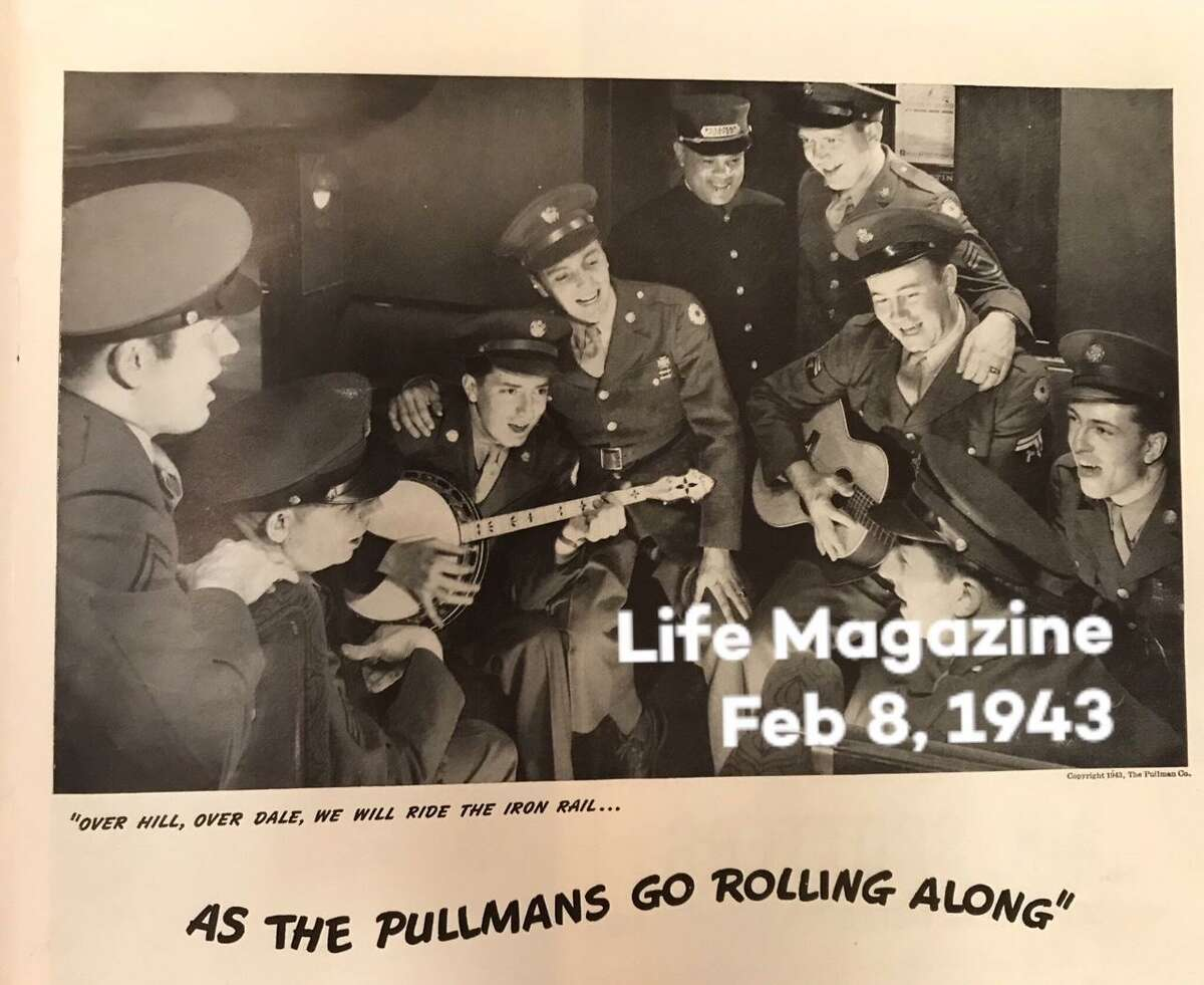 A Life Magazine ad in 1943 featuring Richard Luchsinger with a banjo.