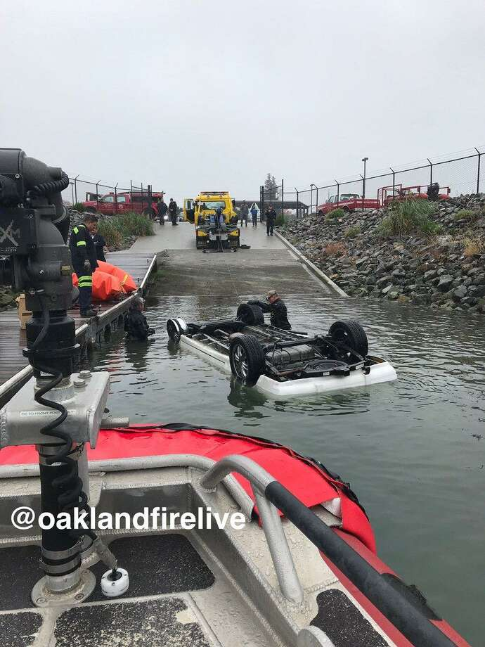 The man who died after driving into the Oakland Estuary on Sunday was identified as a Alameda resident, authorities said.