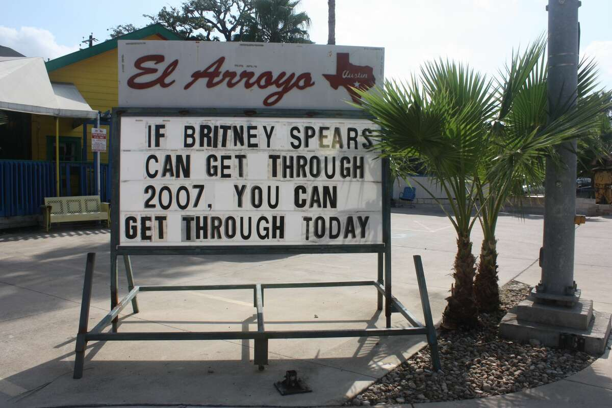 Austin restaurant El Arroyo has gained notoriety from their clever, funny signs that are changed daily with relevant comments on present-day news. The restaurant has now compiled photos of the signs into a book. See it here.