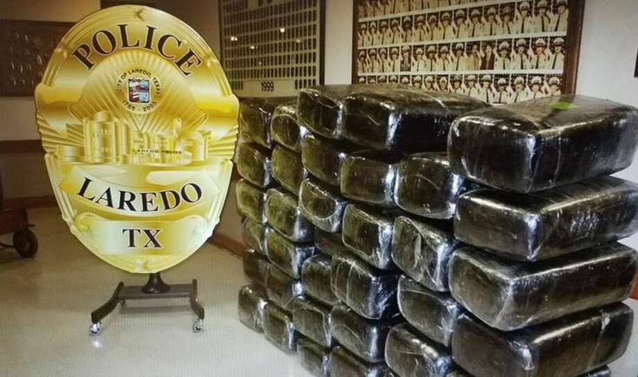 Laredo police said they seized the 881 pounds of marijuana shown in this photo following a traffic stop Wednesday in the 100 block of East Del Mar Boulevard. Photo: Webb County Sheriff's Office