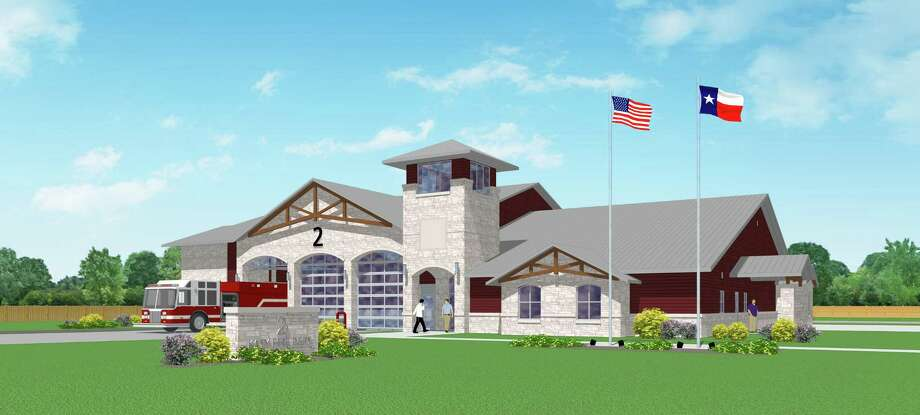 This is a rendering prepared bySlattery Tackett Architects, LLP. of Katy Fire Station No. 2. Photo: Slattery Tackett Architects, LLP.