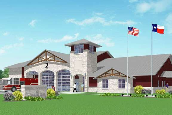 This is a rendering prepared by Slattery Tackett Architects, LLP. of Katy Fire Station No. 2.