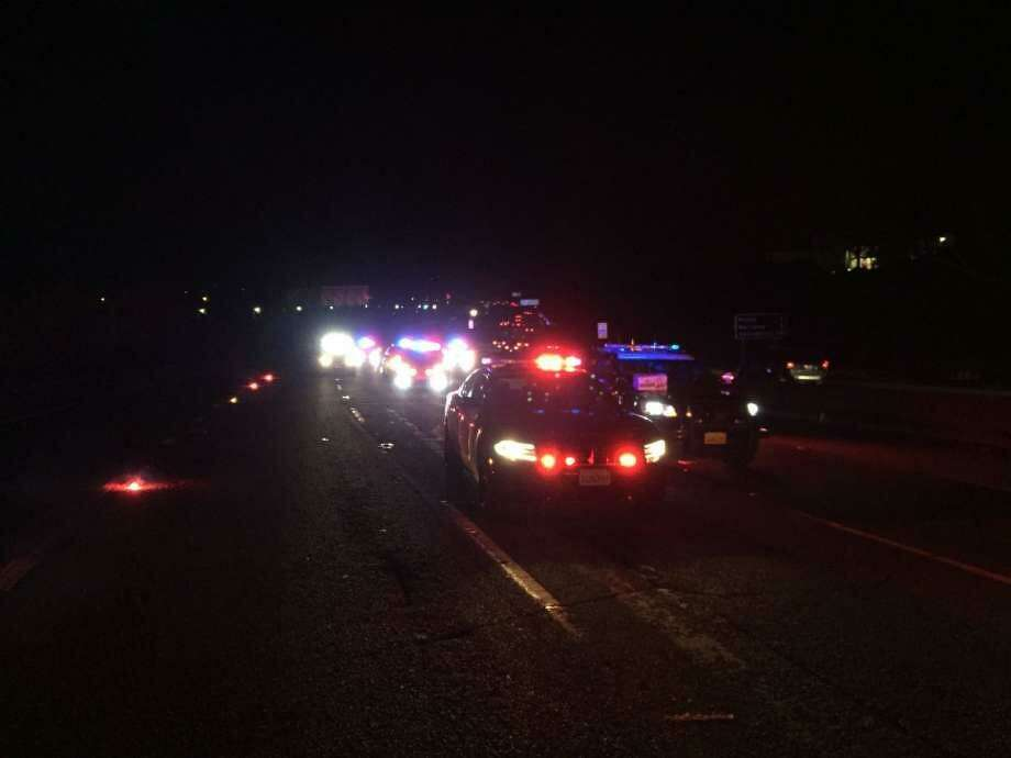 A 47-year-old Sacramento man was arrested after colliding with four other cars on Interstate 80 Saturday night, killing four and injuring six, authorities said. Photo: CHP / /