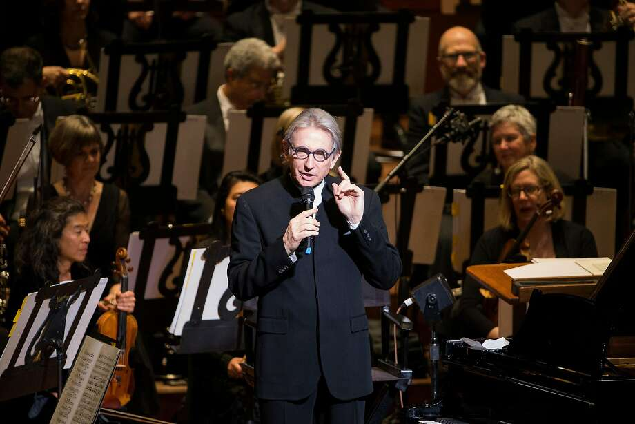 Michael Tilson Thomas is told a story about himself Photo: Stephen Lam, Special To The Chronicle