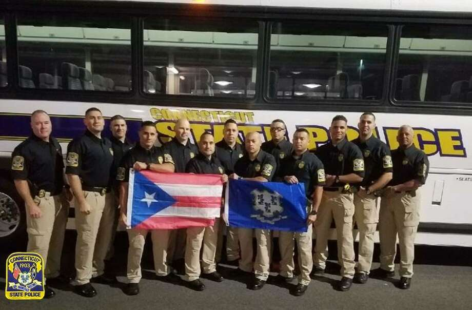 Gov. Dannel P. Malloy on Monday announced 13 Connecticut State Police troopers were deployed to Puerto Rico to assist in recovery efforts. Photo: Contributed