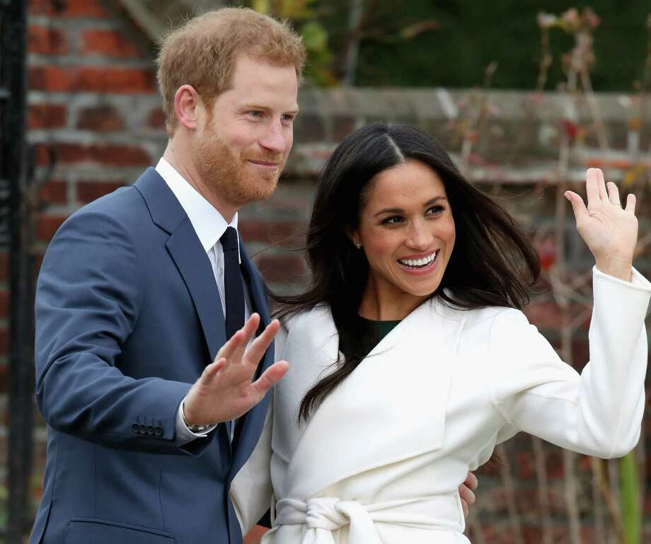 LONDON, ENGLAND - NOVEMBER 27:  Prince Harry and Meghan Markle during an official photocall to announce the engagement of Prince Harry and actress Meghan Markle at The Sunken Gardens at Kensington Palace on November 27, 2017 in London, England.  Prince Harry and Meghan Markle have been a couple officially since November 2016 and are due to marry in Spring 2018. Photo: Chris Jackson, Getty Images / 2017 Getty Images