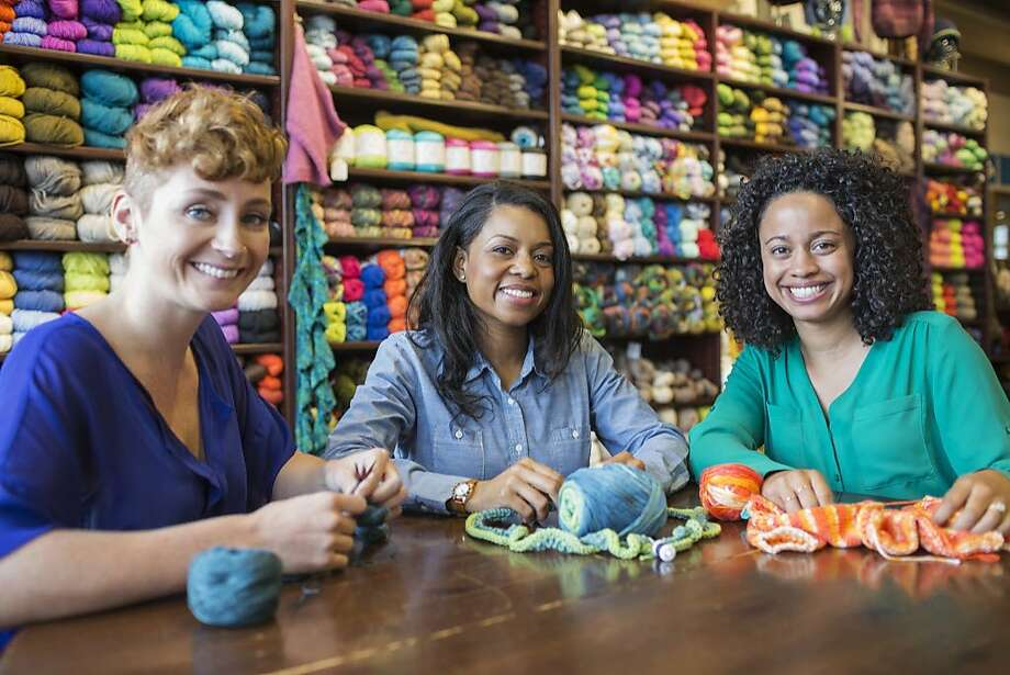 """Claire G. in California"" wrote about a program called Knitted Knockers/ Its members knit or crochet soft, lightweight prostheses for breast cancer survivors and provide them at no cost. Photo: Jetta Productions, Getty Images/Blend Images"