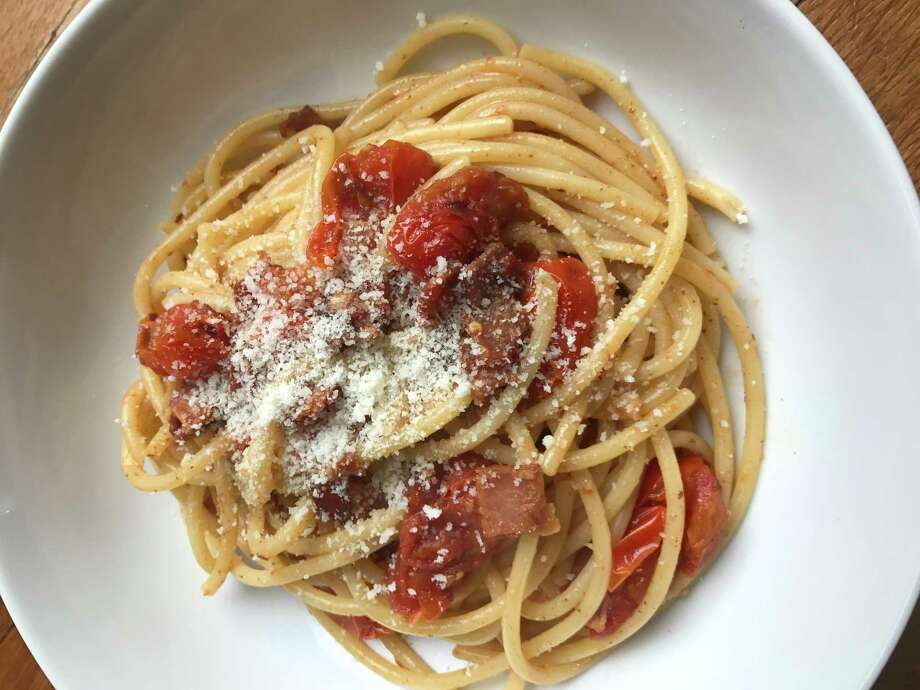 Paulie's Bucatini Amatriciana is easy to make at home. Photo: Nicholas L. Hall