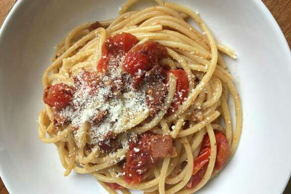 Paulie's Bucatini Amatriciana is easy to make at home.