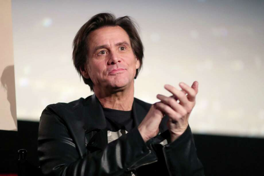 """HOLLYWOOD, CA - NOVEMBER 13:  Jim Carrey  speaks onstage during """"Jim & Andy: The Great Beyond - Featuring a Very Special, Contractually Obligated Mention of Tony Clifton"""" at AFI FEST 2017 Presented By Audi at TCL Chinese 6 Theatres on November 13, 2017 in Hollywood, California.  (Photo by Christopher Polk/Getty Images for AFI) Photo: Christopher Polk, Staff / 2017 Getty Images"""