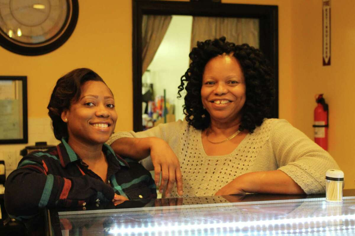 Kaydene and Sandra Williams have been running La Signature Cheesecake in the Arcade Mall in downtown Bridgeport since February.