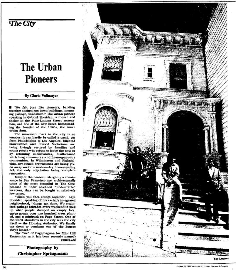 """An October 28, 1973 article in the San Francisco Examiner tells the story of the city's """"urban pioneers,"""" a group of mostly young, mostly white individuals who were """"homesteading the frontier of the 1970s, the inner urban slum."""" Photo: San Francisco Chronicle Archive"""
