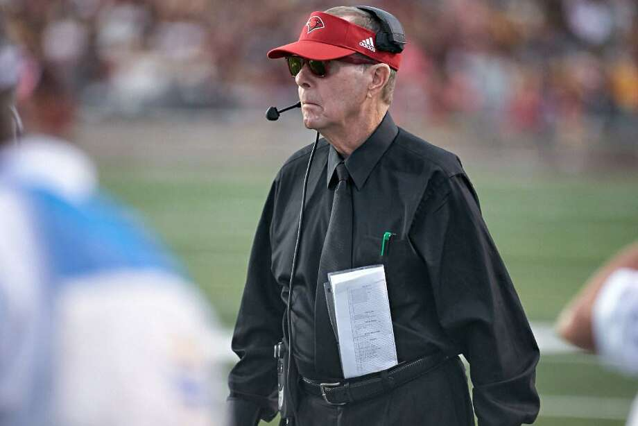 UIW coach Larry Kennan in action on the sidelines during the 2016 season. Photo: UIW Courtesy Photo /