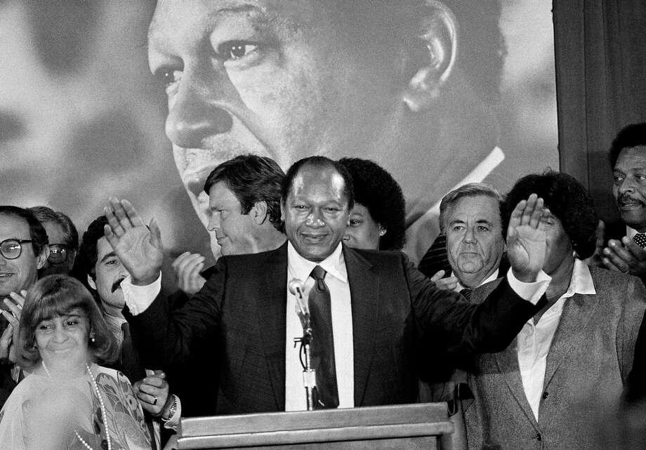 Los Angeles Mayor Tom Bradley on Nov. 3, 1982, in the hours before his close loss to George Deukmejian in the governor's race. Photo: Associated Press