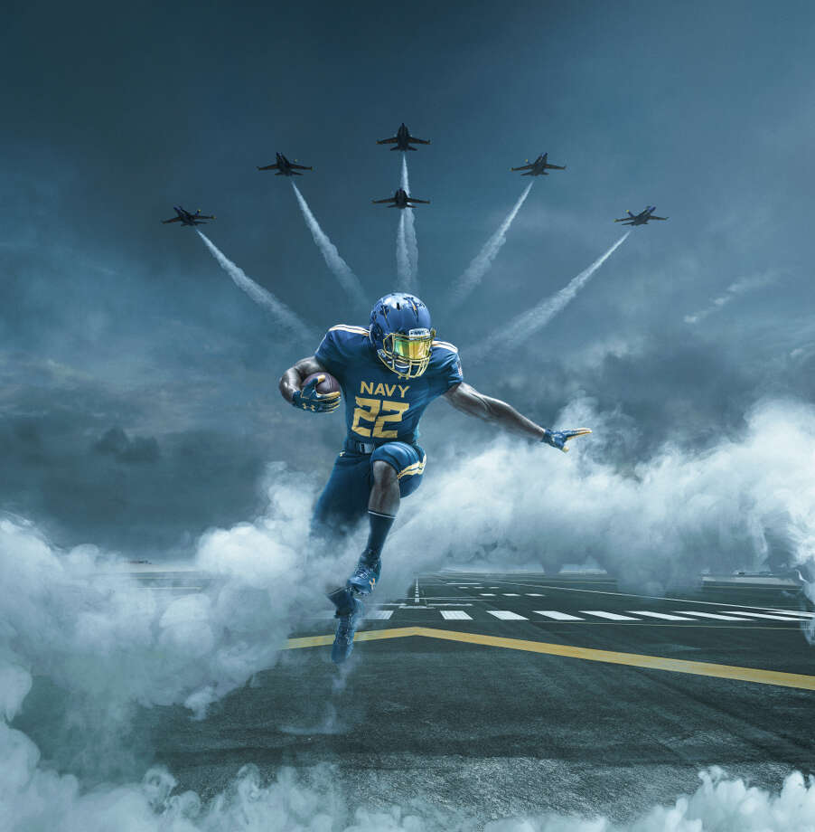 Army Navy Game 2017 Uniforms >> Navy's new uniforms for the Army-Navy game are an awesome tribute to the Blue Angels - SFGate