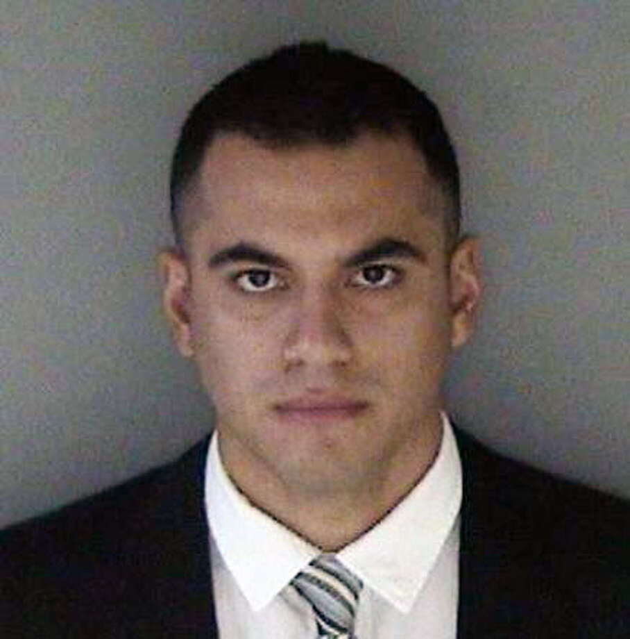 Marco Becerra, 26, was charged with three counts of unlawful sexual intercourse with a minor he met while working as an instructor for the San Leandro Police Department's Explorer program. He has since resigned from the force. Photo: Alameda County Sheriff's Office