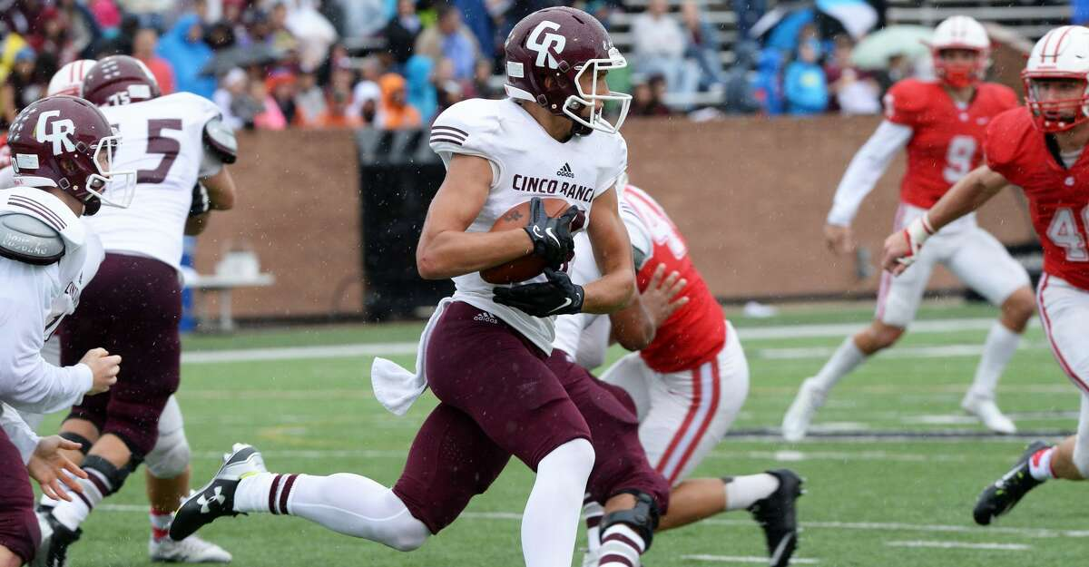 Cinco Ranch's Brant Kuithe scored two touchdowns, including a go-ahead run in the fourth quarter. But Bellaire won 35-31 in the Class 6A Division I bi-district playoffs. To view or purchase this photo and others like it, visit HCNpics.com.