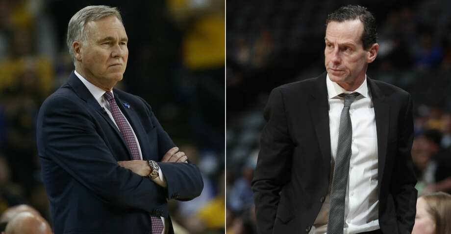 PHOTOS: Rockets game-by-gameKenny Atkinson (right) said he picked up much of his offense from his time under Mike D'Antoni (left), especially the way D'Antoni has used pick-and-roll, spacing and pace.Browse through the photos to see how the Rockets have fared through each game this season. Photo: AP/Getty