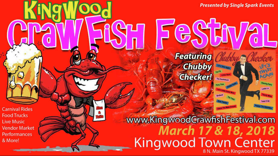 The Kingwood Crawfish Festival will be held at Kingwood Town Center onSaturday March 17, and Sunday, March 18, 2018. Photo: Courtesy Of Single Spark Events Facebook Page