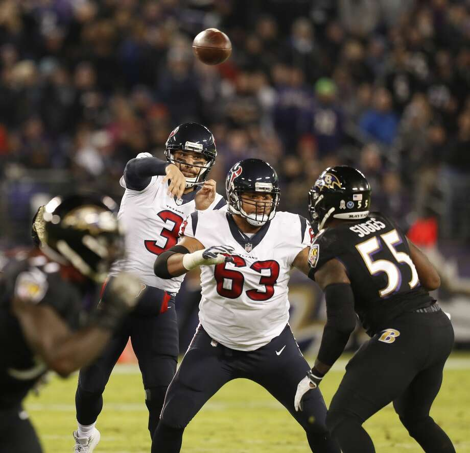 JOHN McCLAIN GRADES THE TEXANSQuarterbackAfter going 5-of-6 for 53 yards on the Texans' opening touchdown drive, Savage was unable to lead another touchdown drive. The red zone offense was awful after the first series. He had two interceptions and a strip sack.Grade: C Photo: Brett Coomer/Houston Chronicle