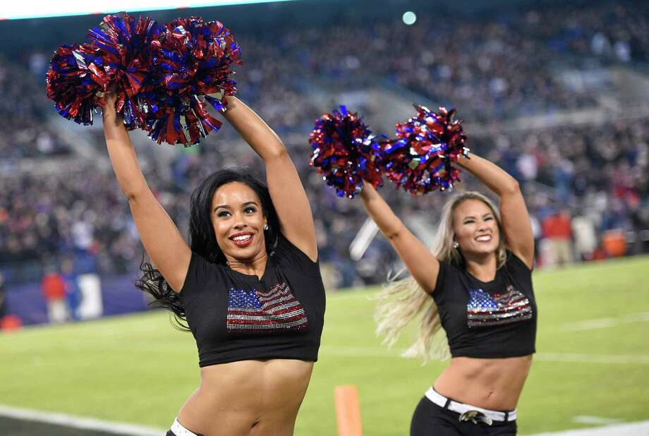 Baltimore Ravens cheerleaders perform during an NFL football game between the Ravens and the Houston Texans, Monday, Nov. 27, 2017, in Baltimore. (AP Photo/Nick Wass) Photo: Nick Wass, Associated Press / FR67404 AP