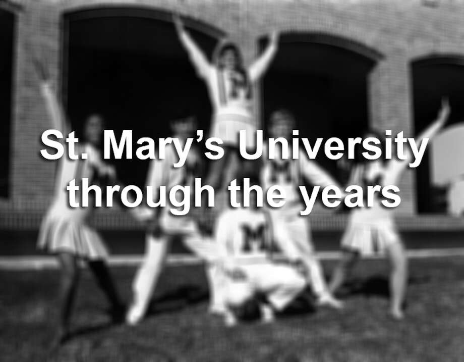 Cheerleaders photographed in 1970. Photo: Courtesy, St. Mary's University