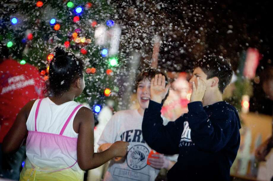 Missouri City's annual Snowfest will take place  Friday, Dec. 1 in the City Hall Complex, 1522 Texas Parkway. Pre-festival entertainment will kick off the event at 5:30 p.m. and will follow with the tree-lighting ceremony and fireworks.  From 6-9 p.m., guests are invited to enjoy an array of event activities including a three-lane snow hill, moonwalks and photos with Santa. Photo: City Of Missouri City / 2011 Eason Photography